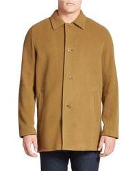 Cole Haan | Brown Solid Top Coat for Men | Lyst
