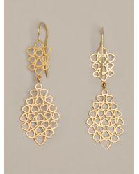 Marie-hélène De Taillac | Metallic Heart Earrings | Lyst