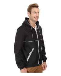 Perry Ellis - Black Nylon Hooded W/ Reflective Tape for Men - Lyst