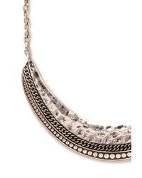 Forever 21 - Metallic Rustic Crescent Bib Necklace - Lyst