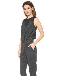 Karen Zambos Gray Jasper Jumpsuit - Tie Dye Tweed