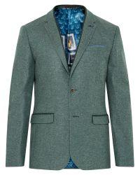 Ted Baker - Green Montelo Herringbone Blazer for Men - Lyst