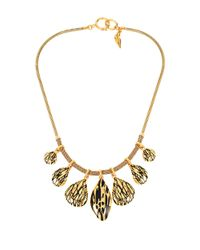 Diane von Furstenberg | Metallic Midnight Kiss Twig Dew Drop Statement Necklace | Lyst