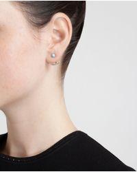 Yvonne Léon | Metallic 18k Gold Five Diamond Lobe Earring | Lyst