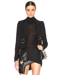 Anthony Vaccarello - Black Star Eyelet Tailored Jacket - Lyst