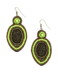 H&M | Black Beaded Earrings | Lyst