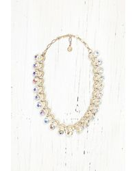 Free People | Metallic Vintage Colorful Gem Necklace | Lyst