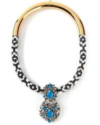 Shourouk | Metallic 'Zulu' Necklace | Lyst