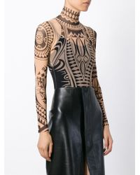 DSquared² Multicolor Printed Sheer Bodysuit