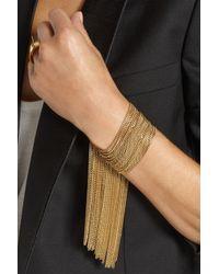 Chloé Metallic Delfine Goldtone Chain Bracelet