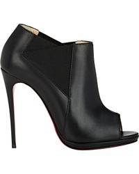 Christian Louboutin Black Leather Bootstagram Booties