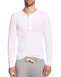 Façonnable | White Cotton Henley for Men | Lyst