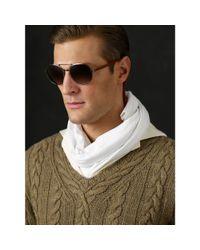 Ralph Lauren - Gray Round Pilot Sunglasses for Men - Lyst