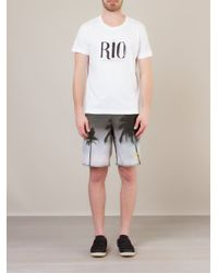 Osklen White Rio, Cidade Maravilhosa, Rio De Janeiro Print T-Shirt for men