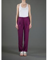 Societe Anonyme | Purple Jogger Trouser | Lyst