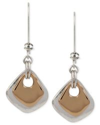 Robert Lee Morris | Metallic Two-tone Sculptural Double Long Drop Earrings | Lyst