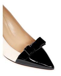 kate spade new york Black Janira Patent Bow Leather Pumps