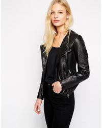 Muubaa   Black Bhira Crochet Leather Biker Jacket   Lyst