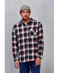 Poler - Red Flannel Button-down Shirt for Men - Lyst