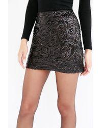 Silence + Noise - Black Sequin Mini Skirt - Lyst
