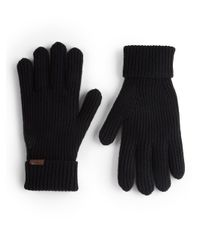 Burberry | Black Cashmere/wool Rib-knit Gloves | Lyst