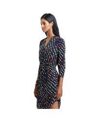 Diane von Furstenberg Blue New Julian Silk Wrap Dress