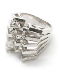Noir Jewelry | Metallic Janice Mountain Peaks Ring | Lyst