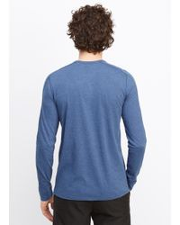 Vince Blue Favorite Jersey Long Sleeve Henley for men