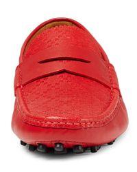Gucci Red Diamante Leather Driver for men