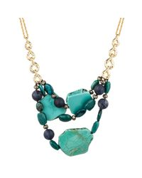 Alexis Bittar | Blue Gold Muse D'Or Rocky Link Bib Necklace | Lyst