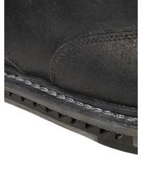 Premiata - Black Washed Reverse Horse Leather Derby Shoes for Men - Lyst
