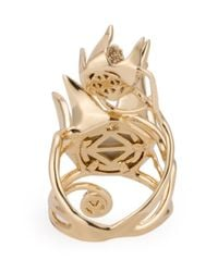 Eddie Borgo - Metallic 'climbing Rose' Ring - Lyst