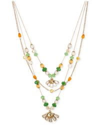 Betsey Johnson | Multicolor Gold-tone Daisy Multi-row Necklace | Lyst