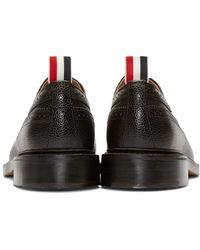 Thom Browne - Black Lace-Up Leather Brogues - Lyst