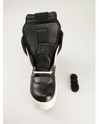 Rick Owens - Black 'Geobasket' Hi-Top Sneakers for Men - Lyst