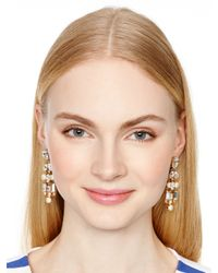 kate spade new york Natural Twinkling Fete Chandelier Earrings