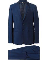 Burberry Blue Two Piece Suit for men