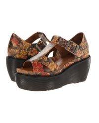 Dr. Martens | Brown Adaya Cross Strap Sandal | Lyst