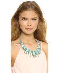 Kate Spade | Blue Beach Gem Statement Necklace - Aqua Multi | Lyst