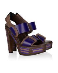 Marni Brown Multi-strap Leather Sandals