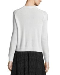 Rebecca Taylor - White Snow Crystal Pullover Sweater - Lyst