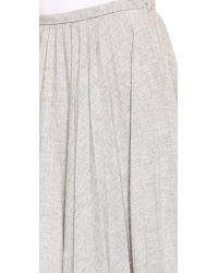 J.W.Anderson Gray Fan Pleat Skirt Light Grey