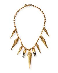 Tory Burch | Multicolor Golden Arrowhead Short Necklace | Lyst