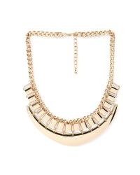 Forever 21 | Metallic Layered Crescent Bib Necklace | Lyst