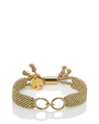 kate spade new york - Pink On Purpose Charm Bracelet - Lyst