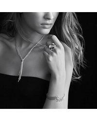 David Yurman | Metallic Willow Drop Necklace With Diamonds | Lyst