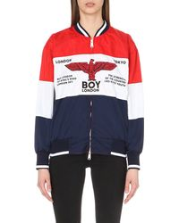 BOY London Red Rugby Shell Jacket
