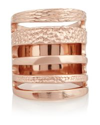 Pamela Love | Pink Single Cage Rose Gold-Plated Ring | Lyst