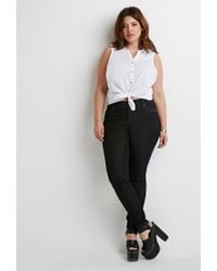 Forever 21 | Black Plus Size Classic Skinny Jeans | Lyst