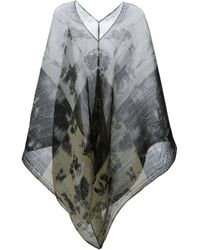 Pleats Please Issey Miyake - Gray Floral Print Tunic - Lyst
